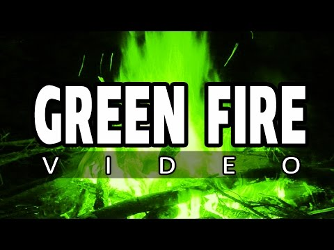 HALLOWEEN Horror Ambience with GREEN FIRE - Perfect atmosphere ambience for party