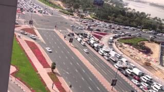Traffic in dubai ..trip and roads