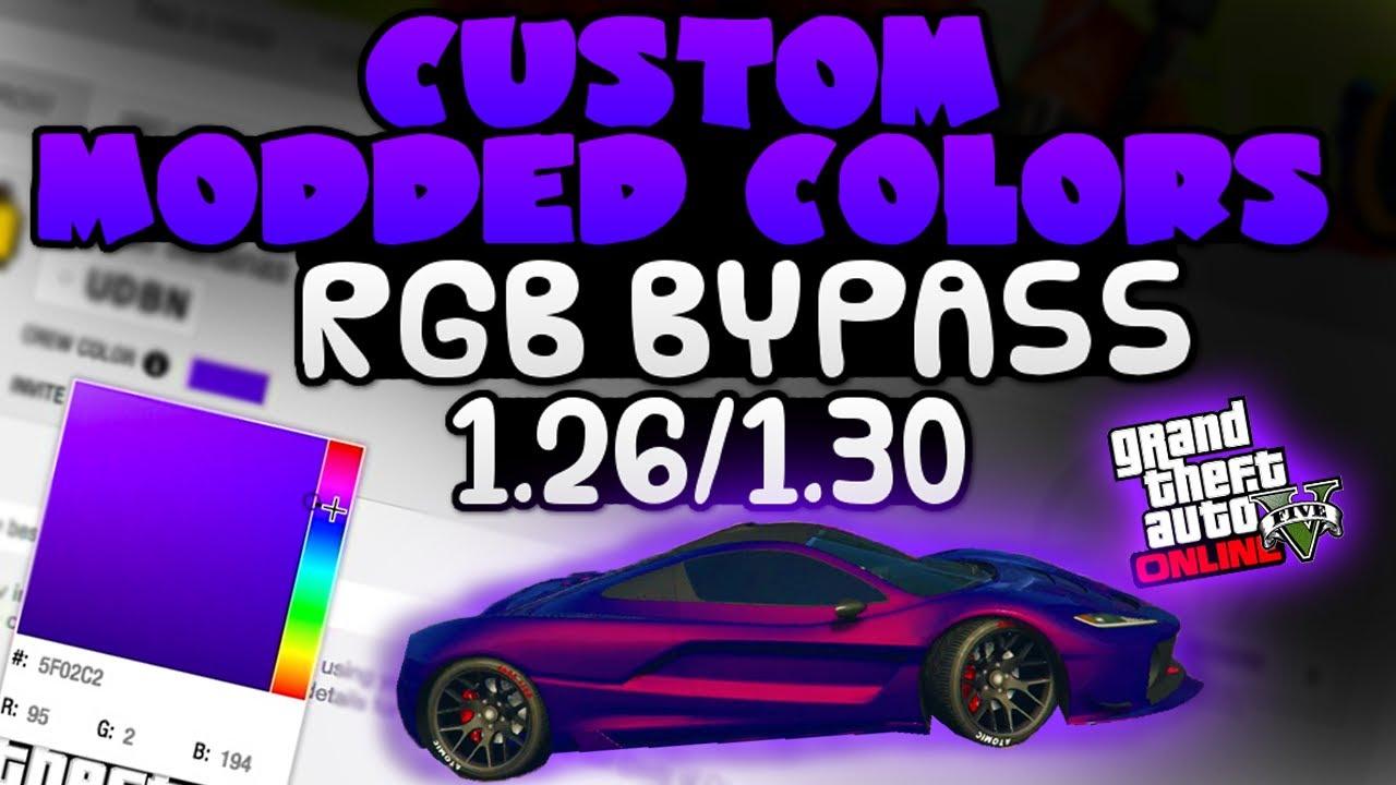 Car paint colour - Best Gta 5 Rare Paint Guide How To Make Custom Modded Colours 1 26 1 30 Change To Any Colour
