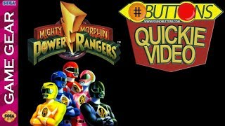 Quickies: Mighty Morphin Power Rangers - Game Gear