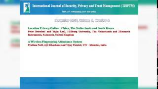 International Journal of Security, Privacy and Trust Management ( IJSPTM)