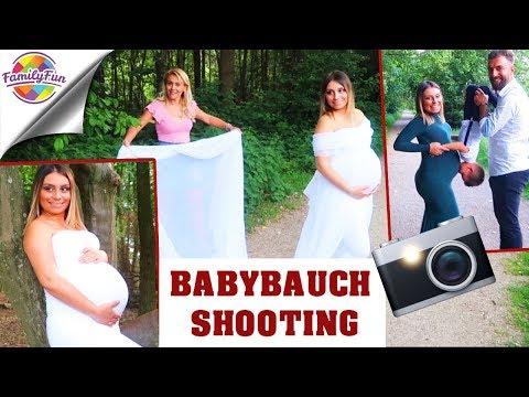 PROFESSIONELLE BABYBAUCH SHOOTING 👶 - Kopfüber Geschwister Küsschen 😘 Family Fun
