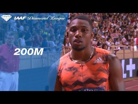 Noah Lyles 19.65 Wins Men's 200m - IAAF Diamond League Monaco 2018