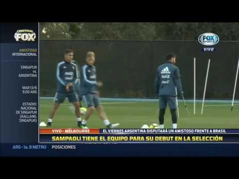 Así formaría la Selección Argentina de Jorge Sampaoli en su debut