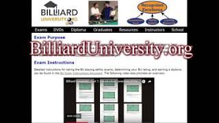 $4000 Billiard University (BU) Exam I 100 Challenge - Playing Ability Test
