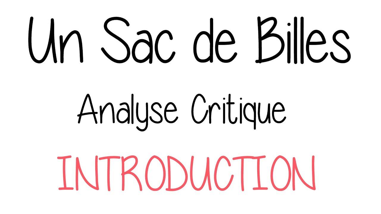 Un Sac De Billes Analyse Critique Introduction