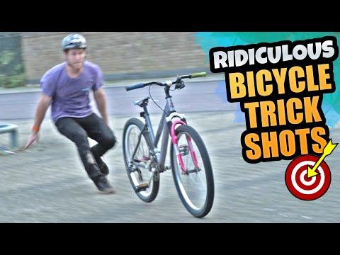 RIDICULOUS BICYCLE TRICK SHOTS! thumbnail