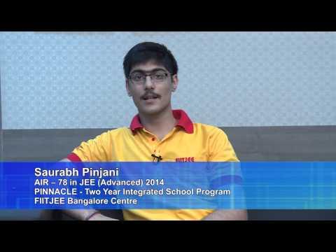 Saurabh Pinjani AIR-78 from FIITJEE Bangalore Centre