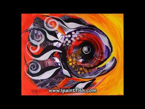 Fish Art & Fish Paintings by J. Vincent Scarpace, #1 (Modern Artwork)