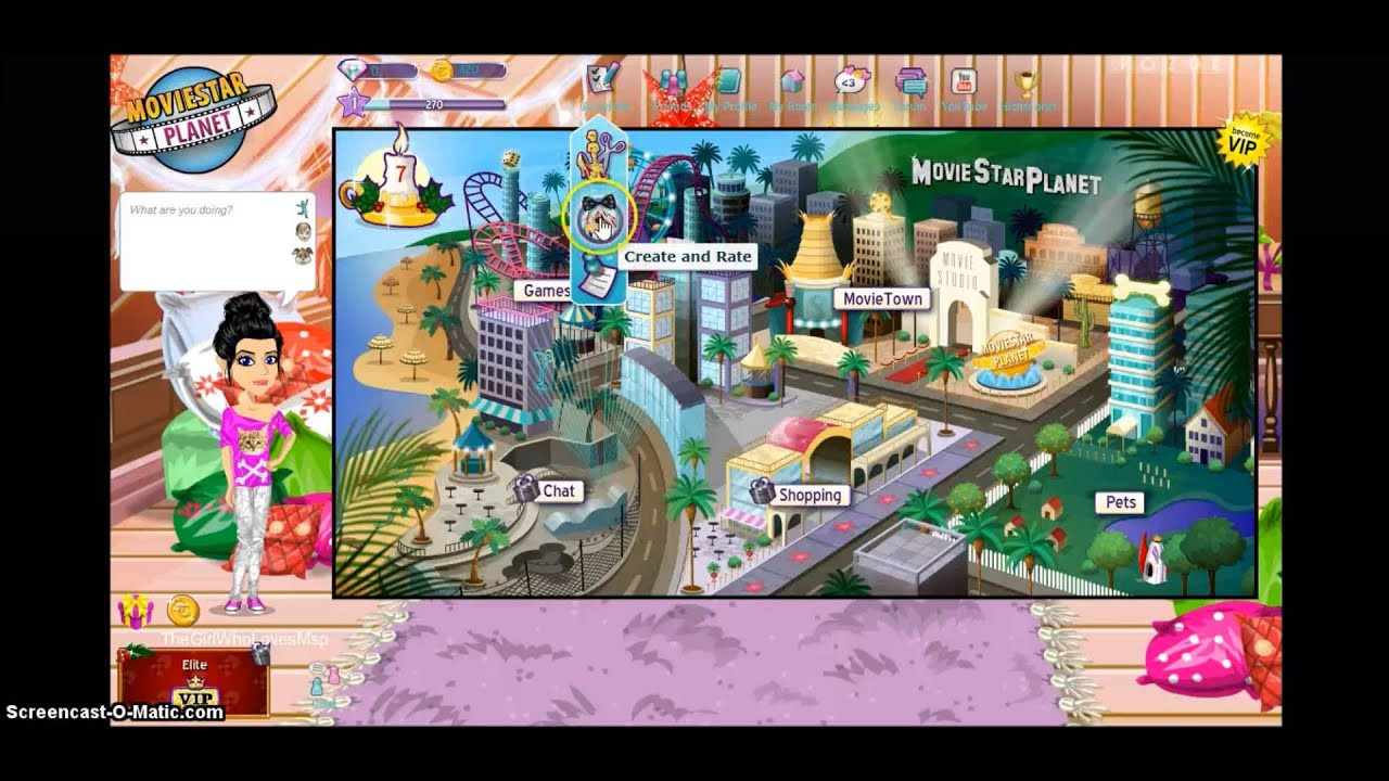 MovieStarPlanet Gameplay Ep 1  Welcome To MSP  YouTube