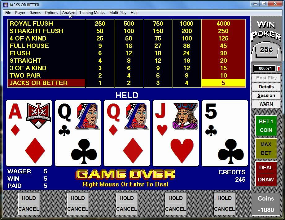 How to play and win at jacks or better video poker tutorial part.