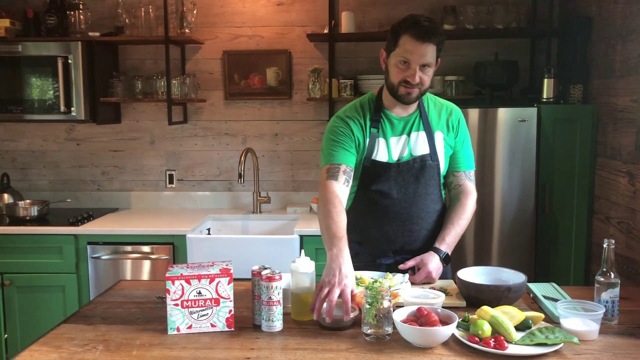Home Cookin' For a Cause with Gabe Erales of Comedor - Summer Squash Agua Fresca Aguachile