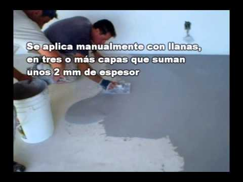 Microcemento video aplicacion y muestras youtube - Aplicacion de microcemento ...