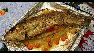 Запечена риба в духовці. Білий АМУР / Запеченная рыба в духовке. Белый АМУР