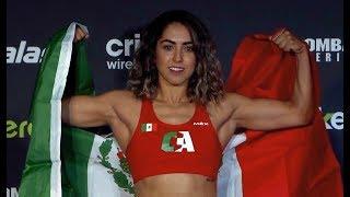 Saray Orozco vs. Silvana Gómez - Weigh-in Face-Off - (Combate Americas 45: Guadalajara) - /r/WMMA