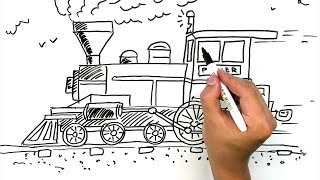 How To Draw A Train / Marker ZOOM