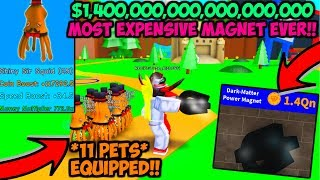 *UPDATE 15* BEST SHINY PETS AND BEST MAGNET IN MAGNET SIMULATOR!! (Roblox)