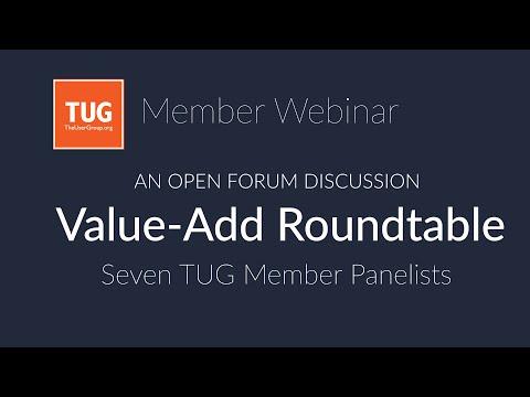 TUG: Value-Add Roundtable