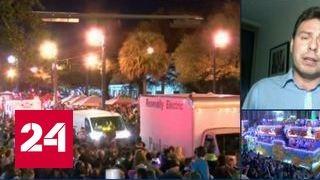 Автомобиль врезался в толпу во время праздничного парада в Новом Орлеане