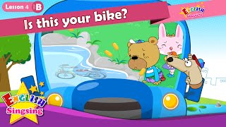 Lektion 4_(B)Ist dies dein Fahrrad? - Ist das deine? - Comic-Story - englische Erziehung - für Kinder