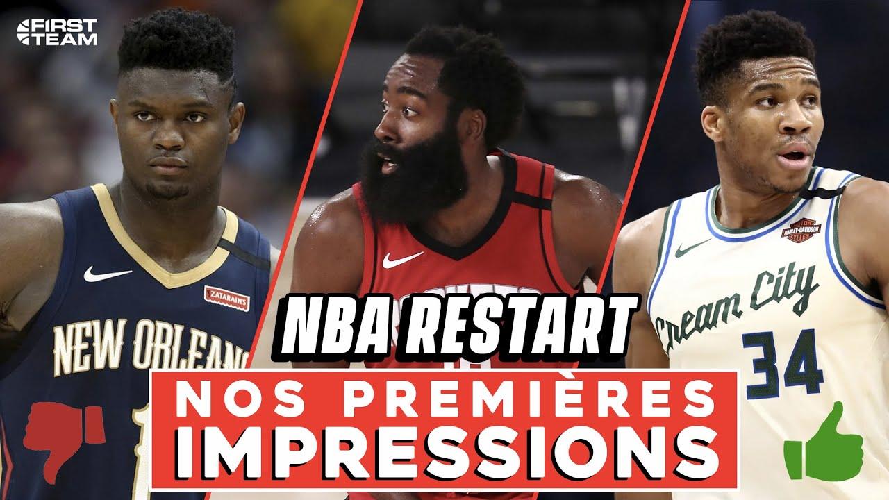 NBA RESTART : NOS PREMIÈRES IMPRESSIONS [Zion, Sixers, Bucks, Rockets]