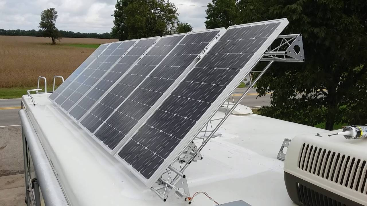 700 Watts RV Solar Panel Remote TIlt - YouTube