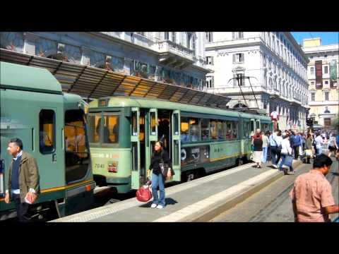 Trams in Rome - Straßenbahnen in Rom - Róma villamosai - Italy