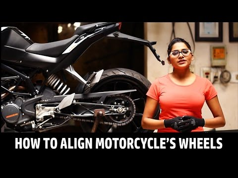 How to Align Motorcycle's Wheels | QuikrCars Do It Yourself Videos