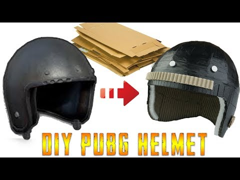 How To Make Lvl 1 Motorcycle Helmet in PUBG From Cardboard DIY By King OF Crafts