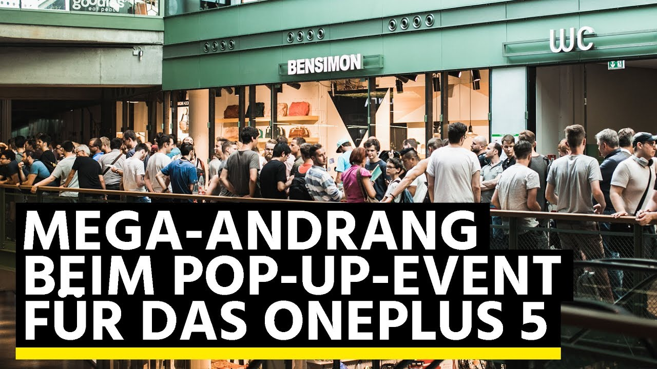 OnePlus 5 im Pop-up-Store: So krass ging's in Berlin ab ...