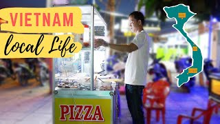 Vietnam: Pizza Stall  single shot of local life