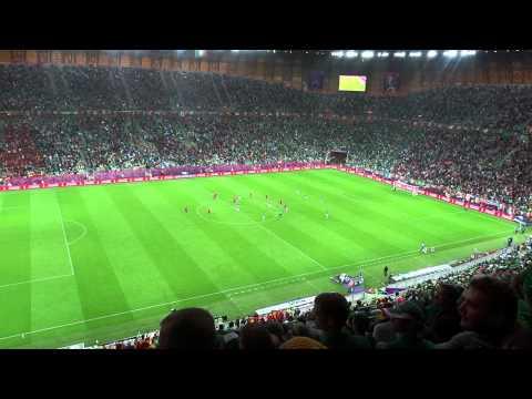 Euro 2012 PGE ARENA Gdańsk Hiszpania:Irlandia 4:0 Cz.2 Filmu ( T.Zimoch )