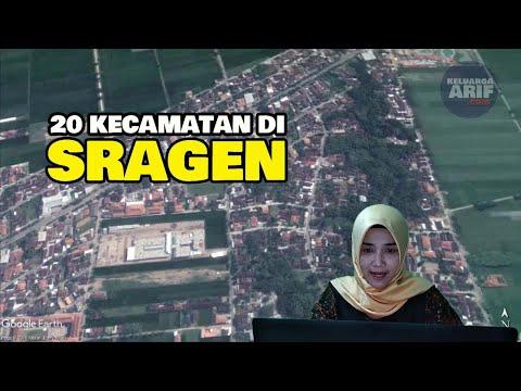 20 Kecamatan Di Sragen Jawa Tengah (Google Earth)