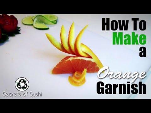 Make How to Make a Orange Garnish   The Orange Fan Snapshots