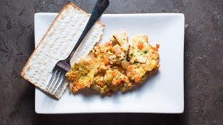Lox, Eggs & Onions Matzo Brei Recipe By Sam The Cooking Guy