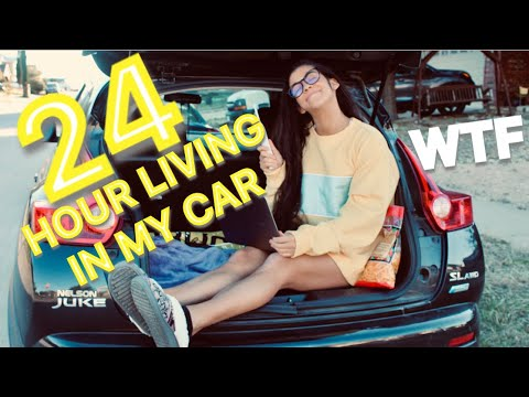 24 HOURS LIVING IN MY CAR WITH FAMILY 🤦🏻♀️🤣