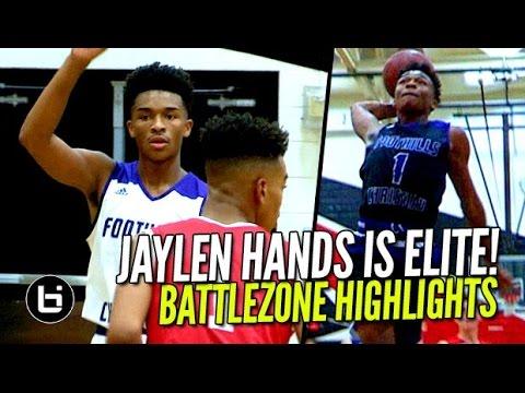 Jaylen Hands Proving He's An ALL AMERICAN! Battlezone FULL Highlights!  