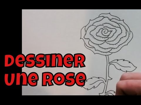 comment dessiner une rose facile tape par tape tutoriel youtube. Black Bedroom Furniture Sets. Home Design Ideas
