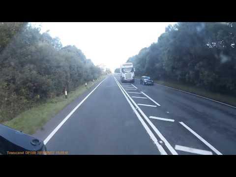 A75 overtaking manoeuvre