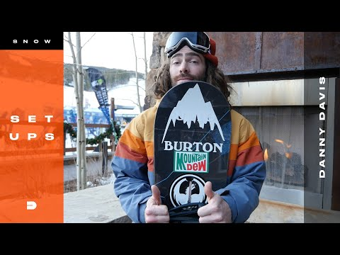 Setups: Danny Davis One of a Kind Halfpipe Snowboard Gear