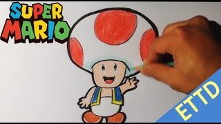 How to Draw Toad from Super Mario Bros - Easy Things to Draw