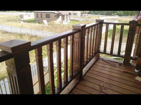 Ограждение балконов фрезером часть 2.