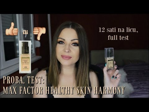 TESTIRAMO: Max Factor Healthy skin harmony foundation (12 hr test)