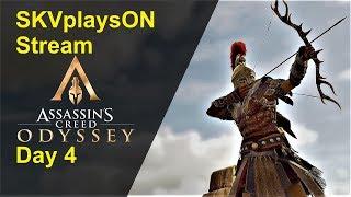 SKVplaysON - AC Odyssey - Day 4 Stream, PC [English] Game Play