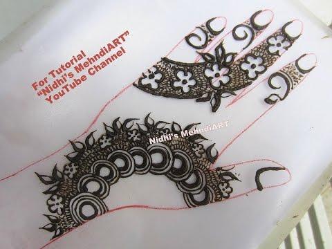 Gulf Style Floral Strip Henna Mehndi Design Tutorial Youtube