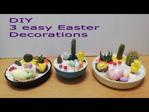 Easy to make Easter Cactus decorations