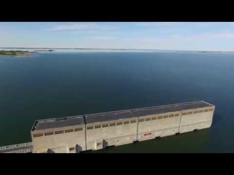 Flying around Garrison Dam with drone