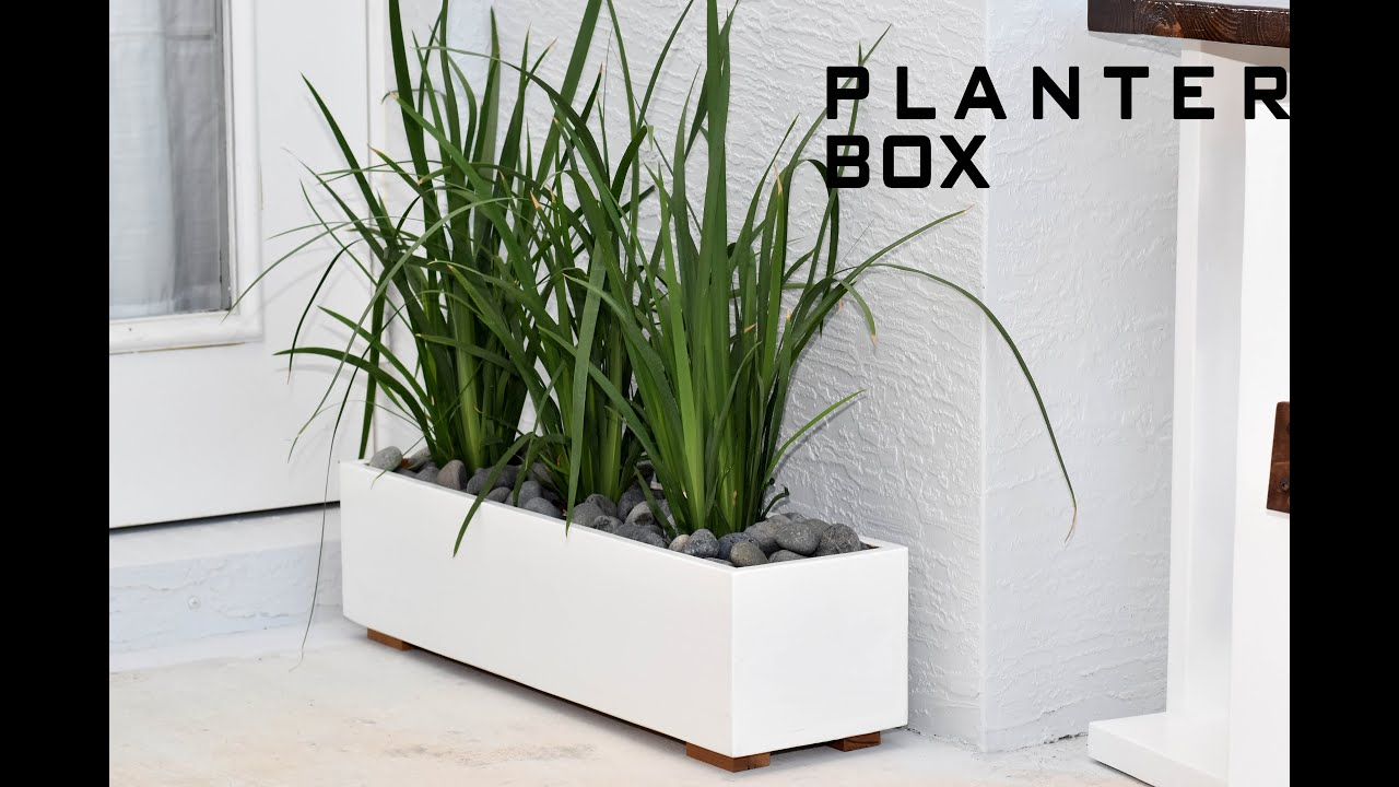 modern planter box  diy build  youtube -
