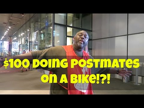 ALMOST MADE 100 DOLLARS DOING POSTMATES ON MY BIKE IN MANHATTAN!