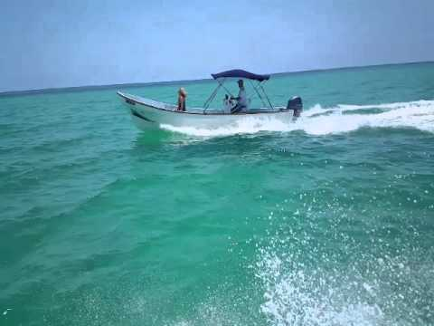 Imensa Panga Boat Underway